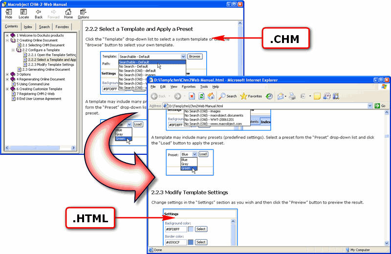 Click to view Macrobject CHM-2-HTML 2007 Professional 2007.13.607.340 screenshot