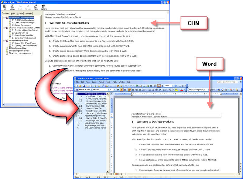 Macrobject CHM-2-Word Converter 2007 2007.13.607.309 full