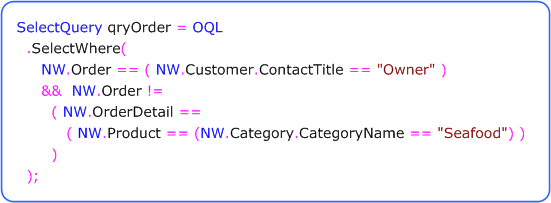 Overview - OQL NET Object Query Language - Products