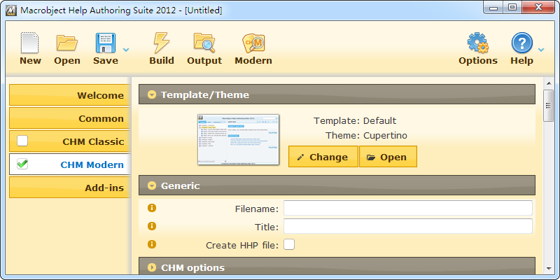 ChmHelp Authoring Suite 2012 software screenshot